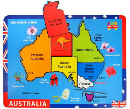 Map Australia Chunky Piece Puzzle