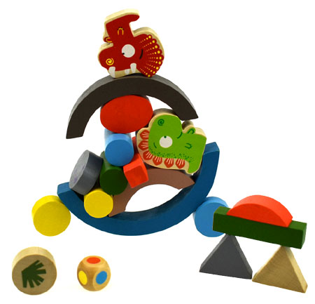 Wooden Balancing Dinosaur Game