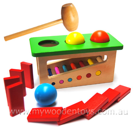 Ball Hammer Bench Wooden Toy