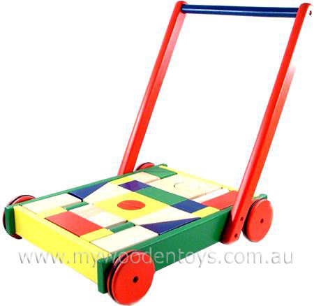 Block Wagon Walker Infant Trolley