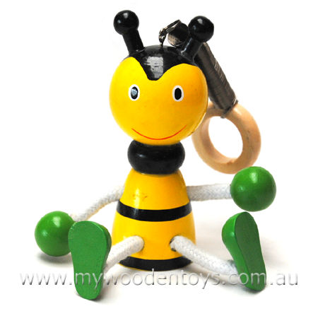 Wooden Toys Bouncing Bumble Bee