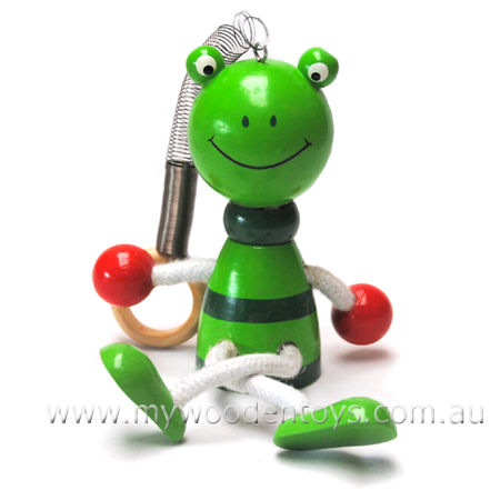 Wooden Toys Bouncing Frog