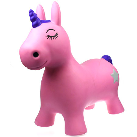 Bouncy Ride On Hopper Pink Unicorn Luna
