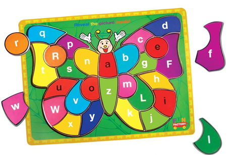 Wooden Butterfly Alphabet Puzzle