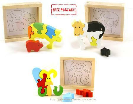Wooden Toys Chunky Puzzle Collection