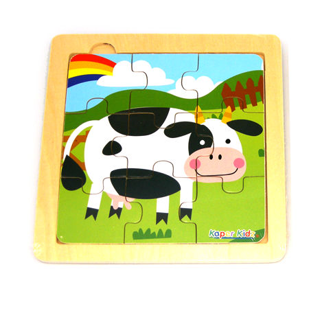 Simple Nine Piece Cow Puzzle