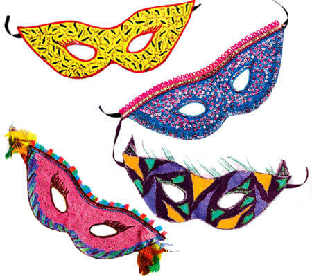 Craft Eye Mask Paint Decorate Kit My Wooden Toys Custom Half Masks To Decorate