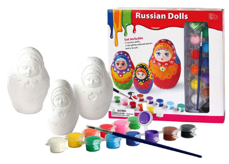 Craft Paint & Create Three Russian Dolls