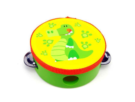 Wooden Toy Tambourine Crocodile