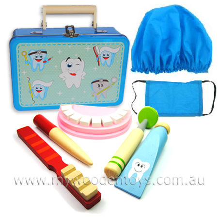 Dentist Tin Suitcase Wooden Playset