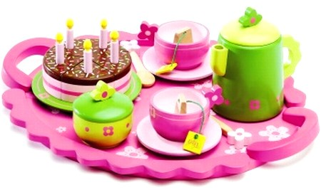 Djeco Wooden Birthday Tea Party Set