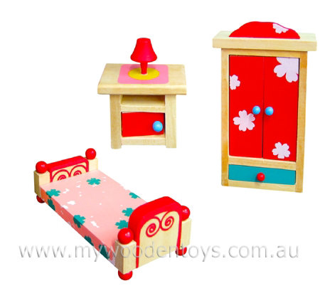 Doll Furniture Bedroom Set Wooden