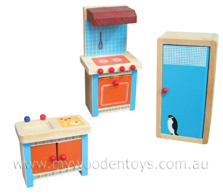 Doll Furniture Kitchen Set Wooden