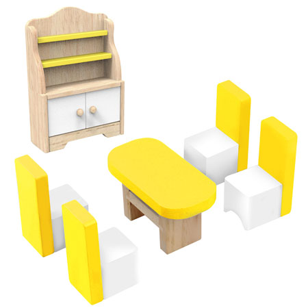 Wooden Dolls House Dinning Room Furniture