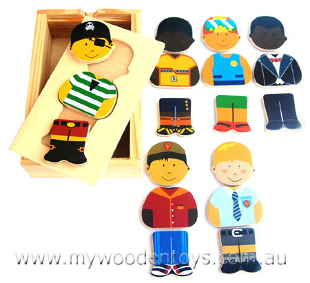 Boy Mix & Match Wooden Puzzle