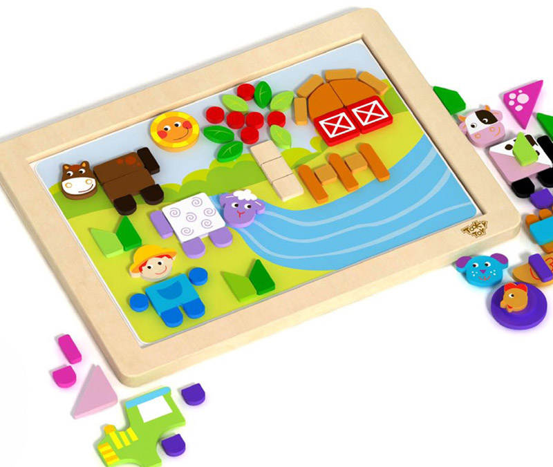 Magnetic Whiteboard Shape Farm Puzzle