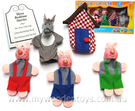 Finger Puppets Three Little Pigs