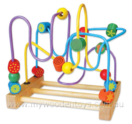 Flower Bead Maze Wooden Toy
