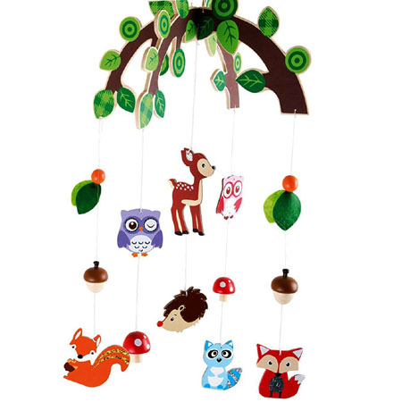 Wooden Wild Animals Mobile