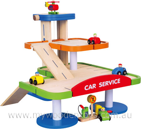 Wooden Car Park Garage