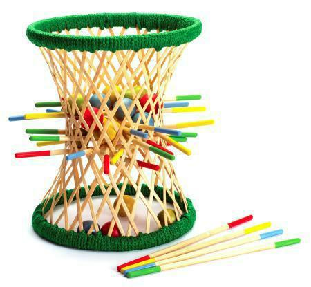 Hape Bamboo Ball Kerplunk Game Pallina