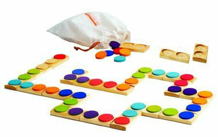 Hape Bamboo Dominoes Game Domorino