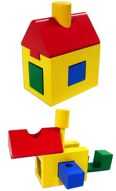 Block House Interlocking Wooden Puzzle