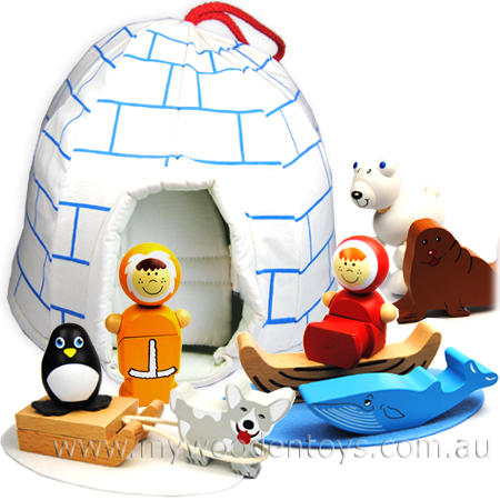 Inuit Igloo Wooden Playset