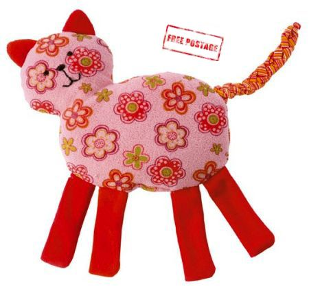 Kathe Kruse Soft Toy Rattle Cat