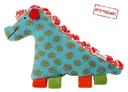 Kathe Kruse Soft Toy Rattle Dragon