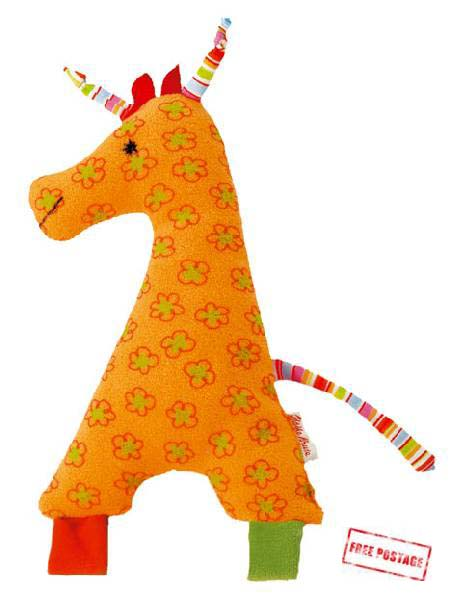 Kathe Kruse Soft Toy Rattle Giraffe