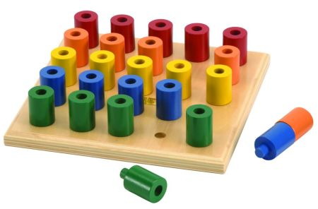 Pattern and Stacking Wooden Game