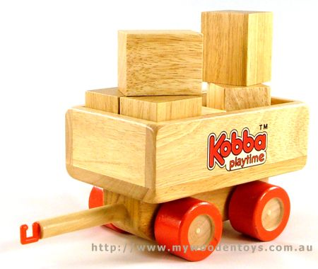 Kobba Wooden Toy Block Carriage