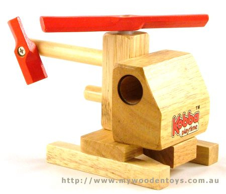 Kobba Wooden Toy Helicopter