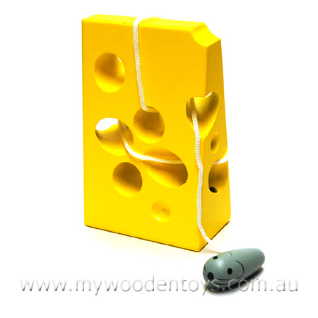 Wooden Toys Lacing Cheese