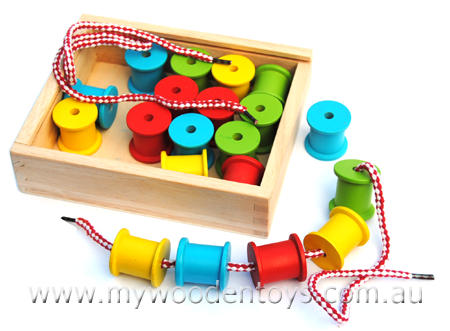 Lacing Threading Wooden Cotton Reels