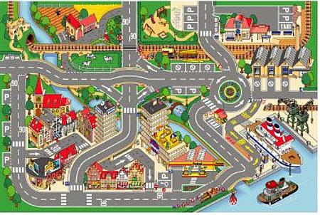 Port Road Town Le Toy Van Playmat