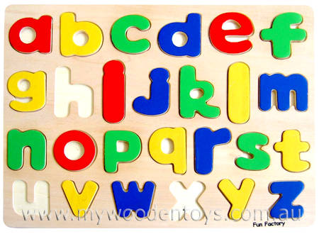 Wooden Lower Case Alphabet Puzzle