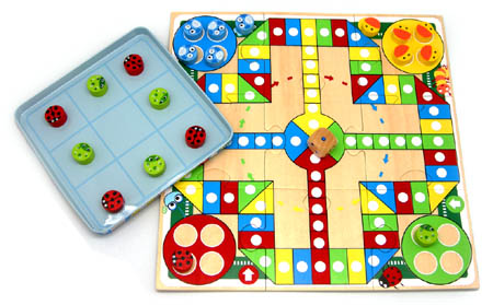 Ludo Tic Tac Toe In Tin Box