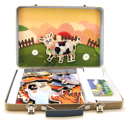 Magnetic Mix Match Animals Tin Case