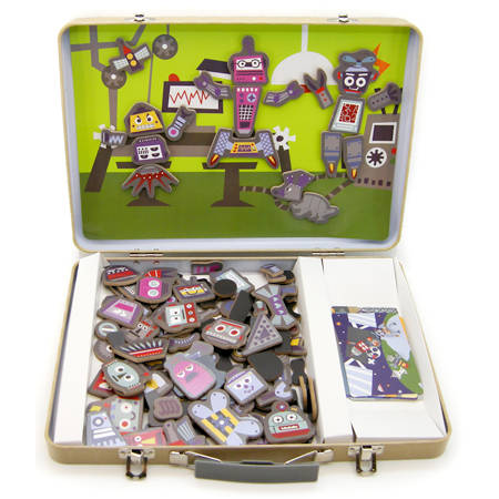 Magnetic Robot Factory Tin Case