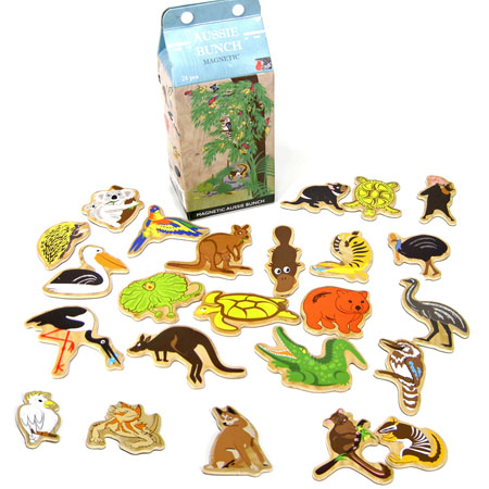Magnetic Wooden Australian Animals