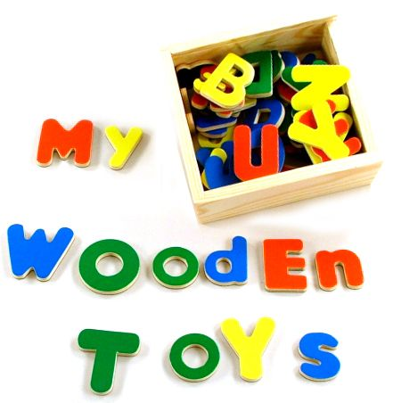 Magnetic Wooden Letters Alphabet Set