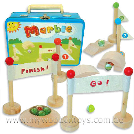 Marble Game Tin Case Playset