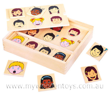 Matching Expressions Wooden Game