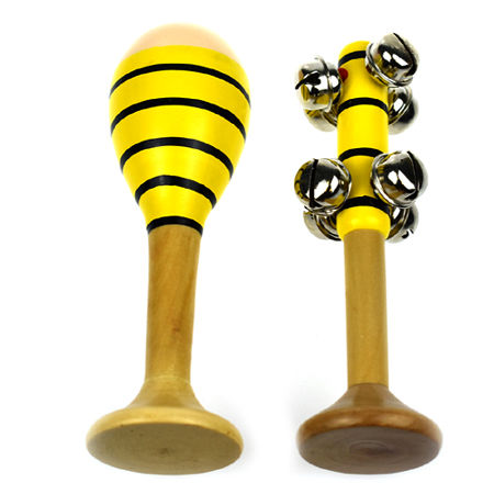 Mini Maraca Bell Stick Bee