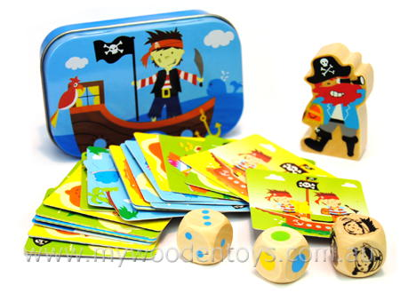 Mini Pocket Tin Box Pirate Game