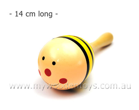 Mini Wooden Bee Single Maraca