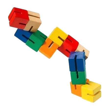 Mini Wooden Fidget Puzzle Multi-Colour