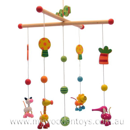 Wooden Toy Jungle Animals Mobile